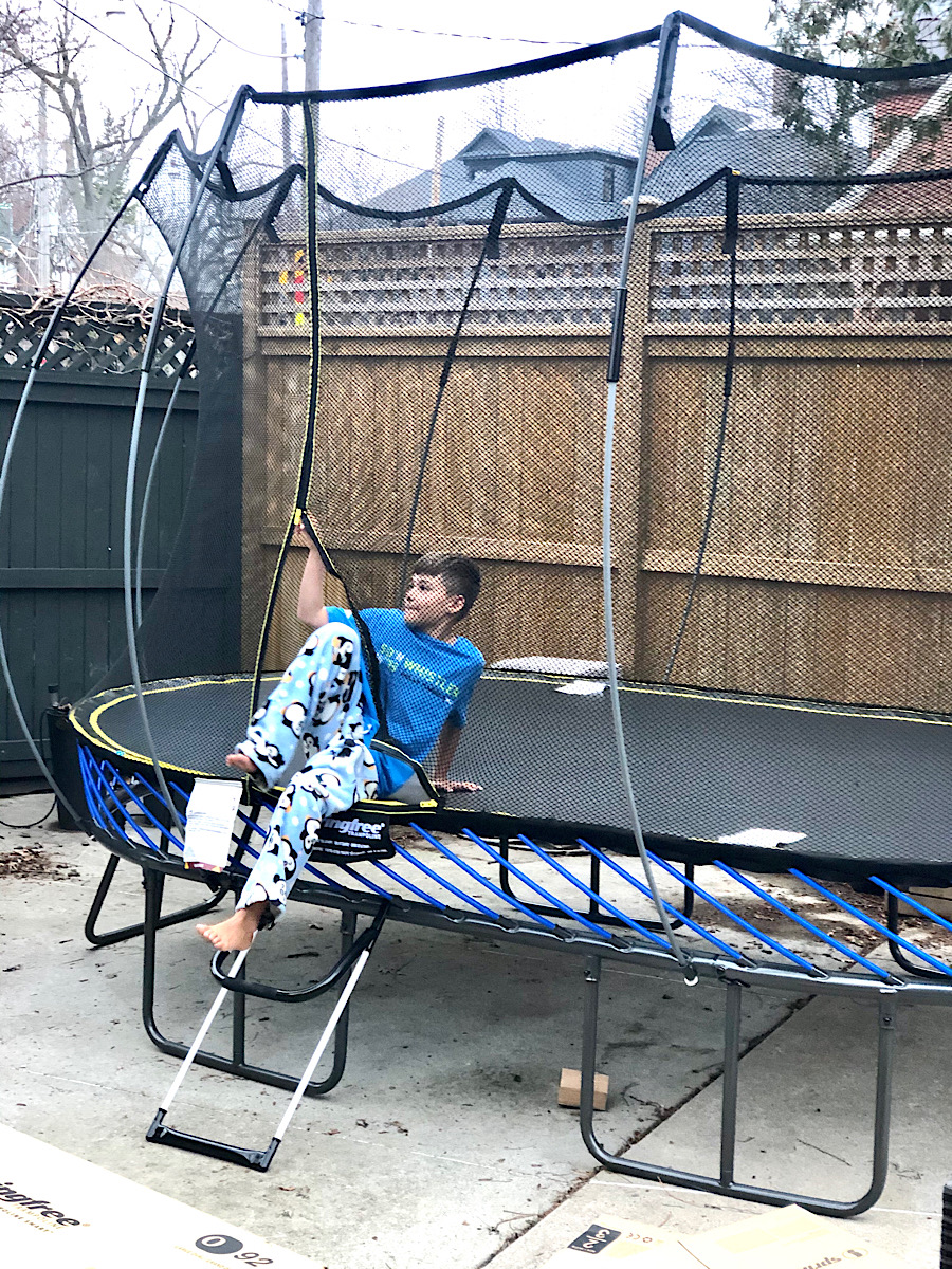 Springfree Trampoline Zipper Door