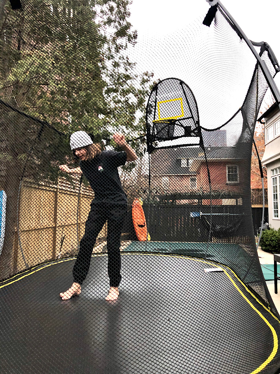 Teenager Trampoline