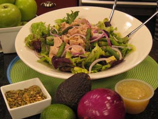 Springtime Tuna and Asparagus Salad with Apple Honey Lime Vinaigrette