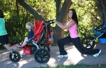 Walking lunge with baby